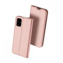Husa Samsung Galaxy A51 Dux Ducis Flip Stand Book - Rose Gold