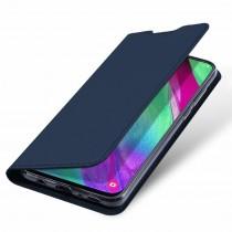 Husa Samsung Galaxy A40 Dux Ducis Flip Stand Book - Albastru