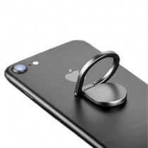 Suport telefon tip inel - Water drop ring negru
