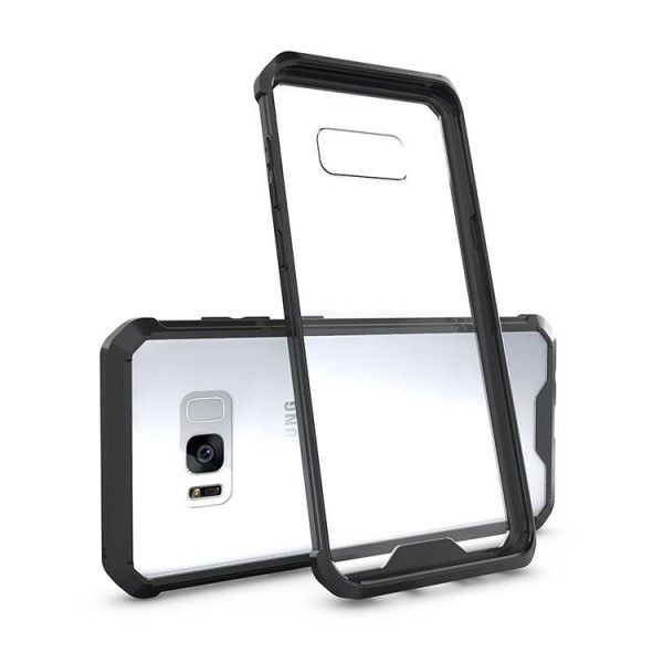 Husa Samsung Galaxy S7 Edge - Air Hybrid Shockproof transparenta cu rama Black