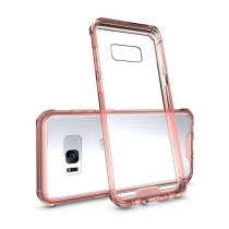 Husa Samsung Galaxy S7 Edge - Air Hybrid Shockproof transparenta cu rama Crystal Pink