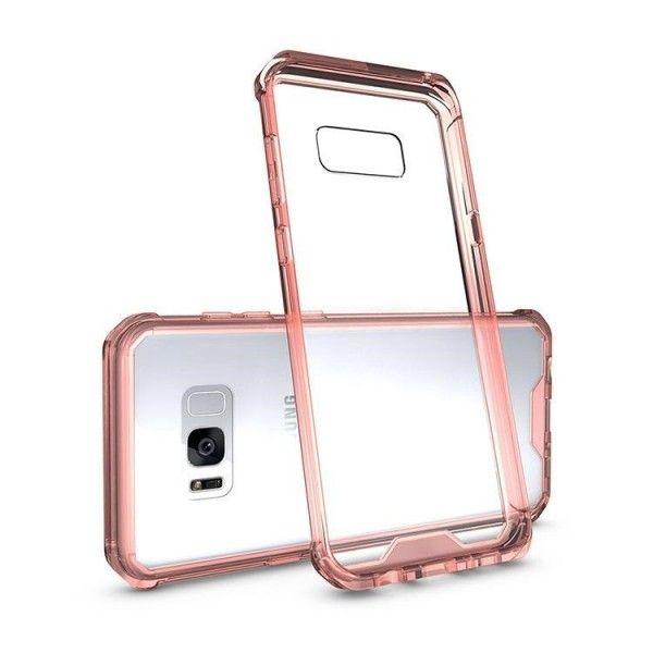 Husa Samsung Galaxy S7 Edge - Air Hybrid Shockproof transparenta cu rama Crystal Pink