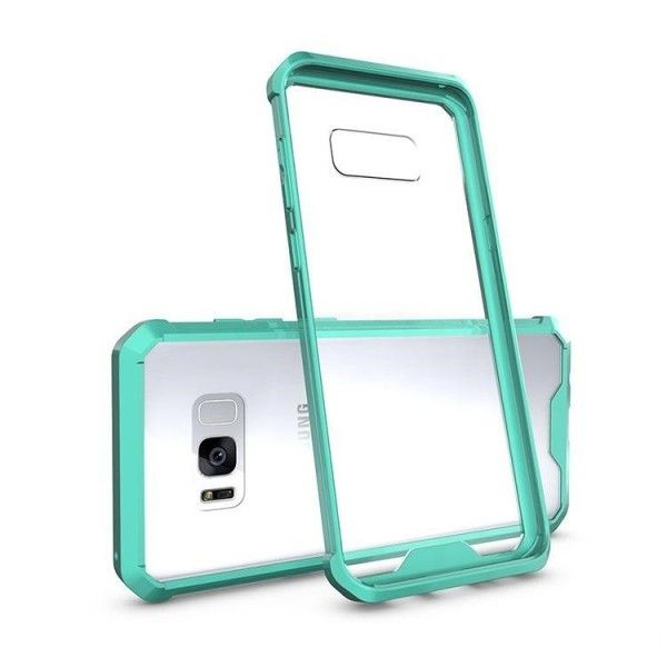 Husa Samsung Galaxy S7 Edge - Air Hybrid Shockproof transparenta cu rama Mint Green
