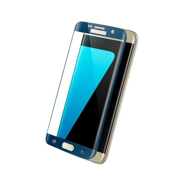 Folie sticla Samsung Galaxy S7 Edge - Wozinsky  Full Screen 3D cu rama Dark Blue