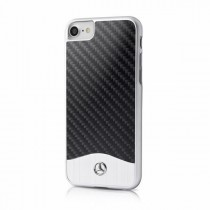 Husa iPhone 7 / iPhone 8 - Mercedes Original Hard Case Carbon Fiber + Aluminiu