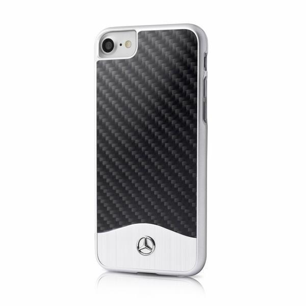 Husa iPhone 7 / iPhone 8 - Mercedes Original Hard Case Carbon Fiber + Aluminiu