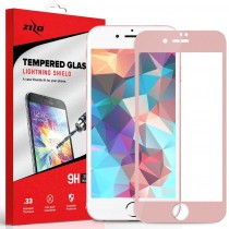 Folie sticla iPhone 7 - Zizo HD Full Screen 3D cu rama Pink