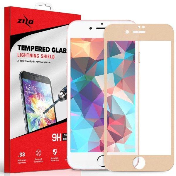 Folie sticla iPhone 7 - Zizo HD Full Screen 3D cu rama Gold