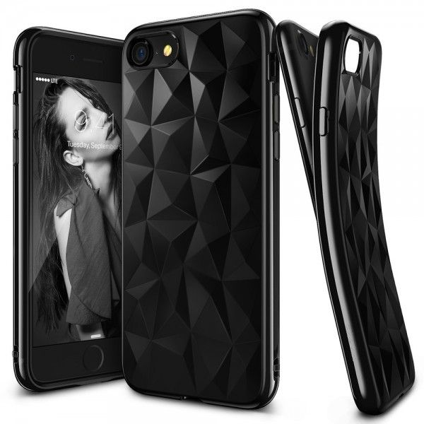Husa iPhone 7 / iPhone 8  - Ringke Air Prism Ink Black