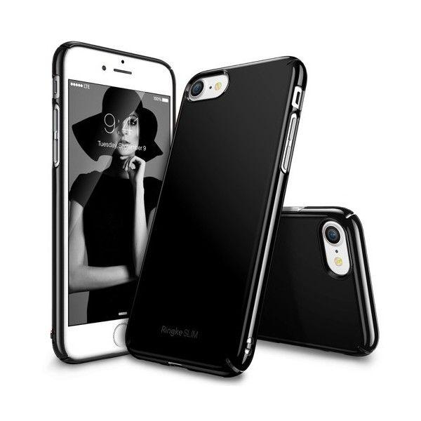 Husa iPhone 7 / iPhone 8  - Ringke Slim Gloss Black