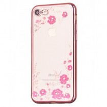 Husa iPhone 7 / iPhone 8 - Bloomy Flower Pink