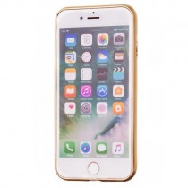 Husa iPhone 7 / iPhone 8 - Bloomy Flower Gold