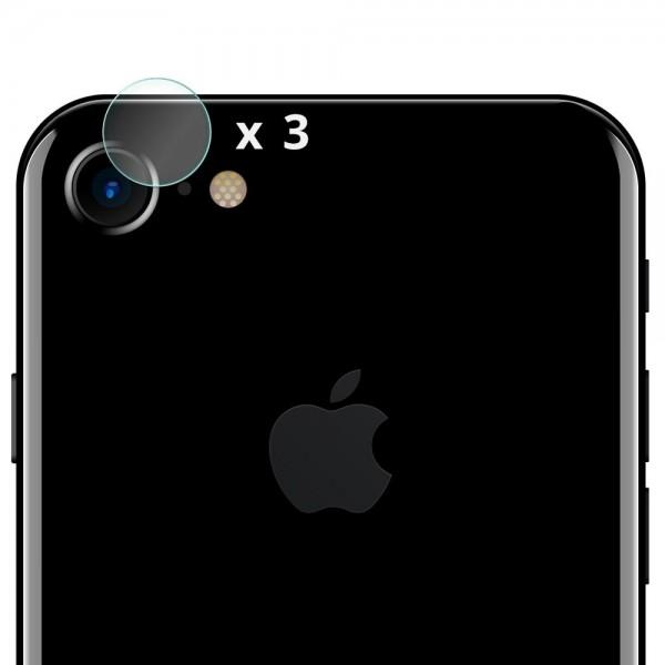 Folie sticla protectie camera iPhone 7 / iPhone 8 - Set 3 bucati