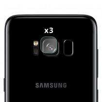 Folie sticla protectie camera Samsung Galaxy S8 Plus - Set 3 bucati