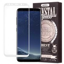 Pachet Folie sticla Samsung Galaxy S8 Plus si Husa silicon Ultra Slim - Remax Crystal Glass Full Screen 3D White
