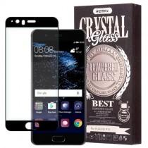 Pachet Folie sticla Huawei P10 si Husa silicon Ultra Slim - Remax Crystal Glass Full Screen 3D Black
