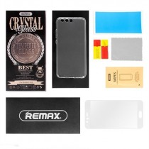 Pachet Folie sticla Huawei P10 si Husa silicon Ultra Slim - Remax Crystal Glass Full Screen 3D White