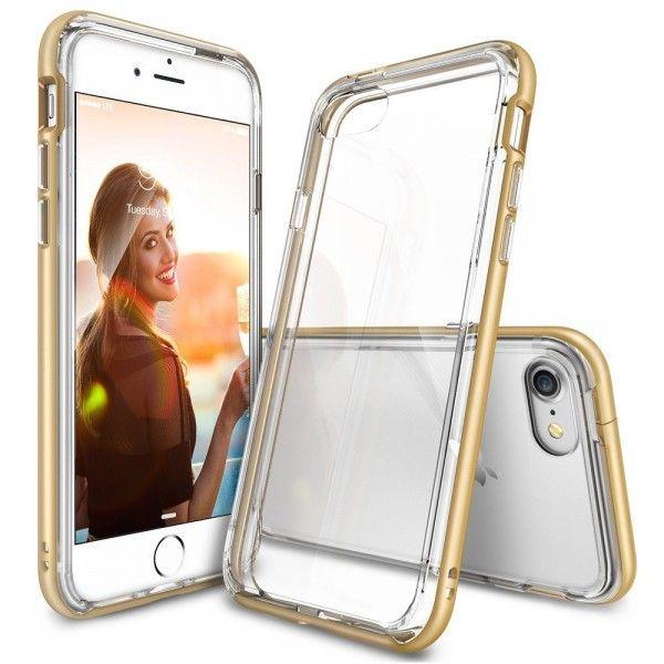 Husa iPhone 7 / iPhone 8 - Ringke Frame Gold