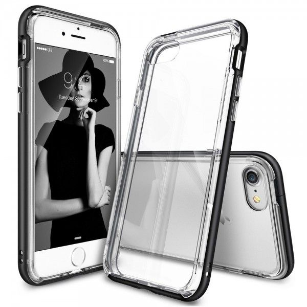 Husa iPhone 7 / iPhone 8 - Ringke Frame Black