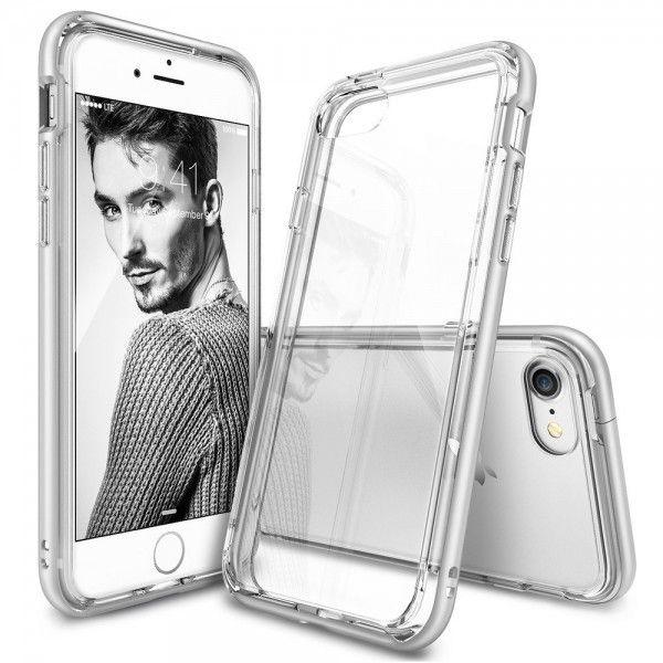 Husa iPhone 7 / iPhone 8 - Ringke Frame Silver