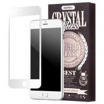 Pachet Folie sticla iPhone 7 Plus si Husa silicon Ultra Slim - Remax Crystal Glass Full Screen 3D White