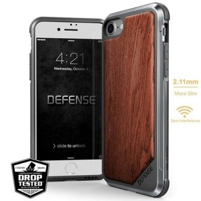 Husa iPhone 7 / iPhone 8 - X-Doria Defense Lux Wood