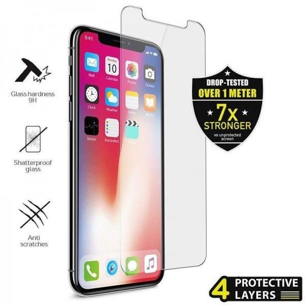 Folie sticla iPhone X - Puro Sapphire