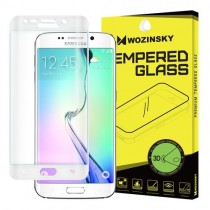 Folie sticla Samsung Galaxy S6 Edge - Wozinsky Full Screen 3D cu rama White