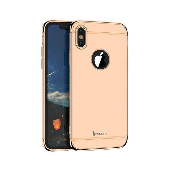 Husa iPhone X - iPaky 3 in 1 Gold