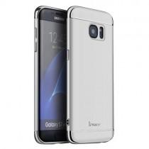 Husa Samsung Galaxy S7 Edge - iPaky 3 in 1 Silver