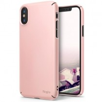 Husa iPhone X - Ringke Slim Pink