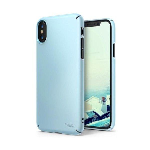 Husa iPhone X - Ringke Slim Blue