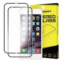 Folie sticla iPhone 6 / iPhone 6S Fata+Spate - Wozinsky Full Screen cu rama aluminiu Black
