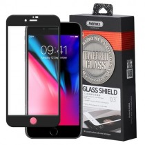 Folie sticla iPhone 7 / iPhone 8 - Remax Caesar Full Screen 3D Curved Glass BLACK