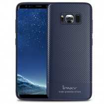 Husa Samsung Galaxy S8 Plus - iPaky Carbon Fiber Blue