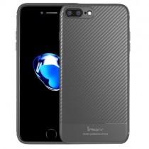 Husa iPhone 7 Plus / iPhone 8 Plus - iPaky Carbon Fiber Grey