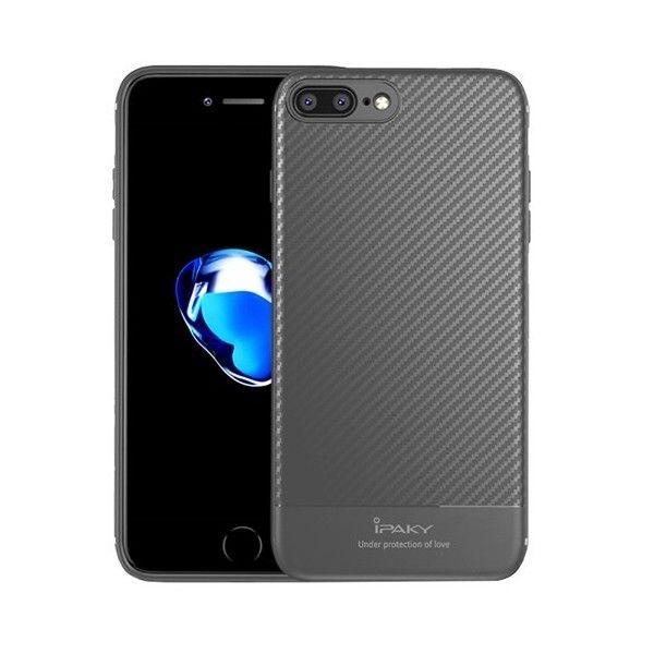 Husa iPhone 7 Plus / iPhone 8 Plus - iPaky Carbon Fiber Grey