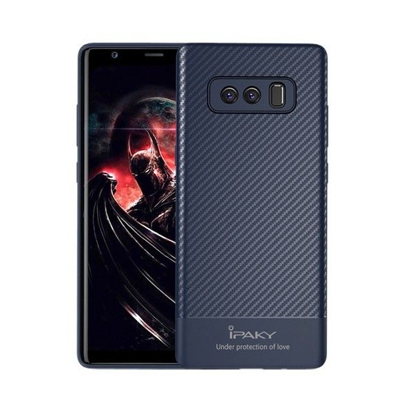 Husa Samsung Galaxy Note 8 - iPaky Carbon Fiber Blue