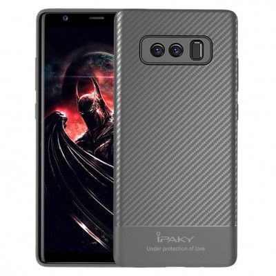 Husa Samsung Galaxy Note 8 - iPaky Carbon Fiber Grey
