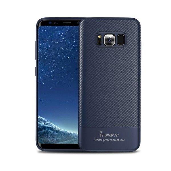 Husa Samsung Galaxy S8 - iPaky Carbon Fiber Blue