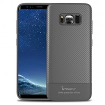 Husa Samsung Galaxy S8 - iPaky Carbon Fiber Grey