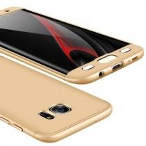 Husa Samsung Galaxy S7 Edge - Protectie 360 grade Gold