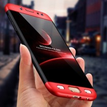 Husa Samsung Galaxy J3 2017 - Protectie 360 grade Red/Black