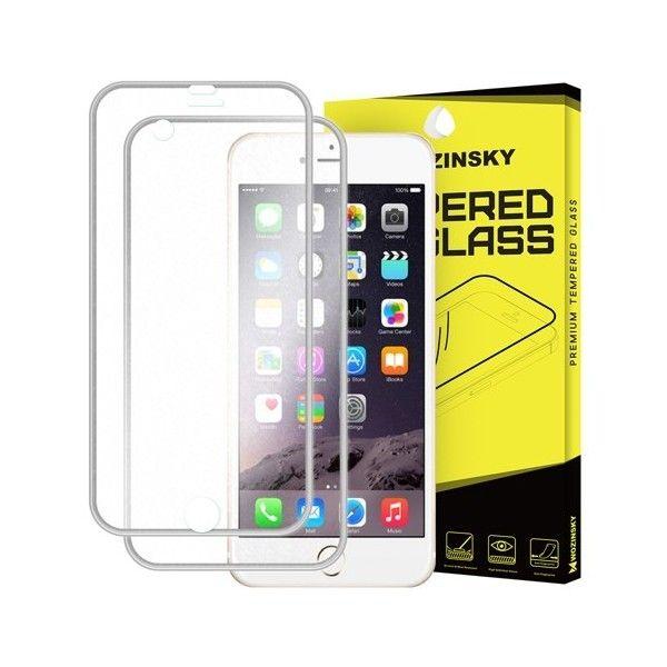 Folie sticla iPhone 6 / iPhone 6S Fata+Spate - Wozinsky  Full Screen cu rama aluminiu Silver