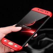Husa Samsung Galaxy J5 2017 - Protectie 360 grade Red/Black