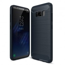 Husa silicon Samsung Galaxy S8 Plus - Carbon TPU Blue