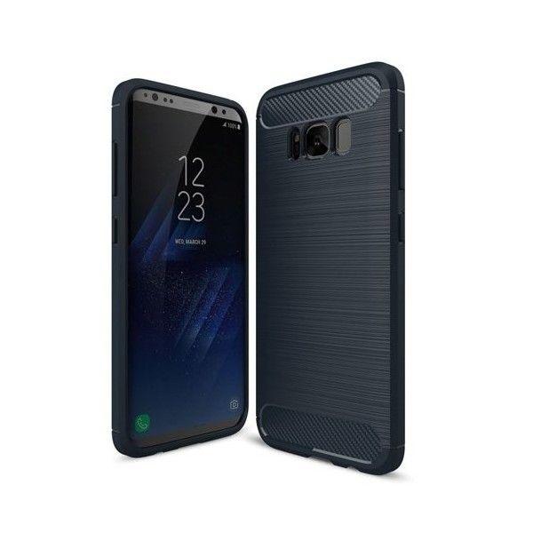Husa silicon Samsung Galaxy S8 Plus - Carbon TPU Blue