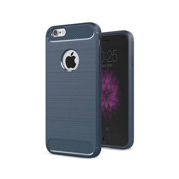 Husa silicon iPhone 7 - Carbon TPU Blue