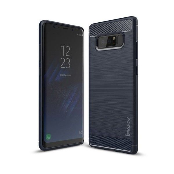 Husa Samsung Galaxy Note 8 - iPaky Slim Carbon Blue