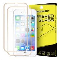 Folie sticla iPhone 7 / iPhone 8 Fata+Spate - Wozinsky  Full Screen cu rama aluminiu Gold
